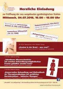 Plakat Eröffnung Gynäkologie