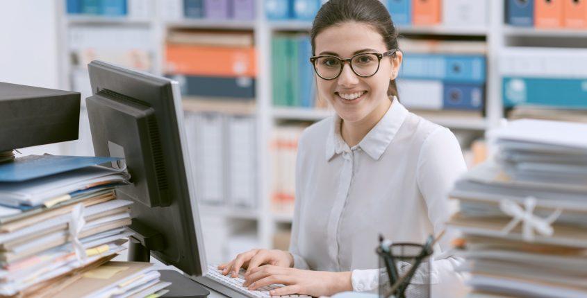 Schreibbüro, Sekretärin